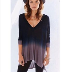 Anthro Pins & Needles ombre tunic sweater M/L